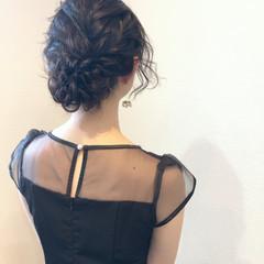 フェミニン ねじり 結婚式 ヘアセット ヘアスタイルや髪型の写真・画像