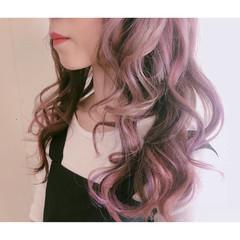 透明感 ハイトーン 簡単ヘアアレンジ フェミニン ヘアスタイルや髪型の写真・画像