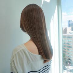 髪質改善トリートメント ナチュラル ロング ベージュカラー ヘアスタイルや髪型の写真・画像