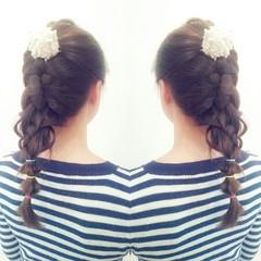 外国人風 フェミニン ヘアアレンジ ロング ヘアスタイルや髪型の写真・画像