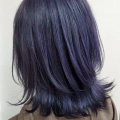 ミディアム ハイライト コントラストハイライト エレガント ヘアスタイルや髪型の写真・画像