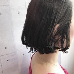 大人女子 ボブ ウェットヘア モード ヘアスタイルや髪型の写真・画像