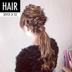 二次会 ヘアアレンジ ルーズ ショート ヘアスタイルや髪型の写真・画像