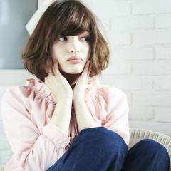 ナチュラル 大人かわいい ボブ アッシュ ヘアスタイルや髪型の写真・画像