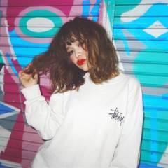 ミディアム ウェーブ パンク ストリート ヘアスタイルや髪型の写真・画像
