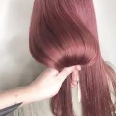 ピンクベージュ ピンクアッシュ ピンク ナチュラル ヘアスタイルや髪型の写真・画像