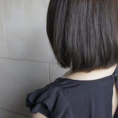 ボブ ブルージュ ナチュラル 暗髪 ヘアスタイルや髪型の写真・画像
