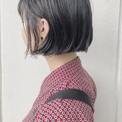 ボブ 切りっぱなし 外国人風カラー 抜け感 ヘアスタイルや髪型の写真・画像