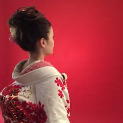 和装 着物 ブライダル ヘアアレンジ ヘアスタイルや髪型の写真・画像
