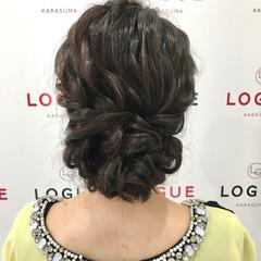 大人女子 二次会 エレガント ブライダル ヘアスタイルや髪型の写真・画像