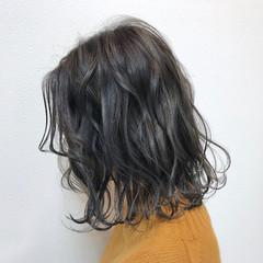 透明感 デート ボブ ハイライト ヘアスタイルや髪型の写真・画像