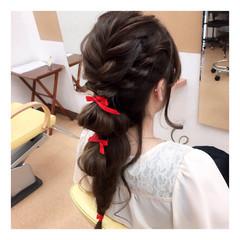ヘアアレンジ 編み込み 結婚式 無造作 ヘアスタイルや髪型の写真・画像