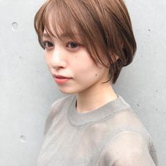 ショート ひし形シルエット ショートヘア ナチュラル ヘアスタイルや髪型の写真・画像
