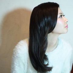 ストレート 暗髪 ロング 外国人風カラー ヘアスタイルや髪型の写真・画像