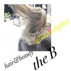 ブリーチ 外国人風カラー ホワイト セミロング ヘアスタイルや髪型の写真・画像