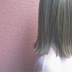 ブリーチ 外国人風 ボブ イルミナカラー ヘアスタイルや髪型の写真・画像