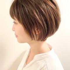 ショートボブ オフィス ショートヘア ショート ヘアスタイルや髪型の写真・画像