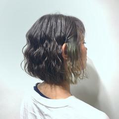透明感 ボブ ナチュラル 春ヘア ヘアスタイルや髪型の写真・画像