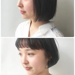 黒髪 ショート デート ストリート ヘアスタイルや髪型の写真・画像