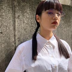 モード ヘアアレンジ ロング 前髪パッツン ヘアスタイルや髪型の写真・画像