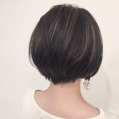 グラデーションカラー ショート ウェットヘア 外国人風 ヘアスタイルや髪型の写真・画像