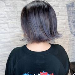 ショートボブ ベリーショート インナーカラー 切りっぱなしボブ ヘアスタイルや髪型の写真・画像