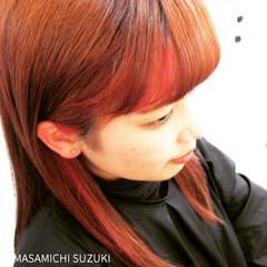 グラデーションカラー ハイライト セミロング ピュア ヘアスタイルや髪型の写真・画像
