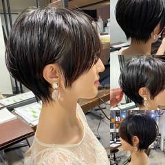 小顔ショート ナチュラル 丸みショート ショートヘア ヘアスタイルや髪型の写真・画像