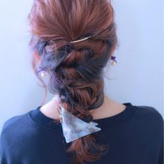 ロング パープル ブルー ストリート ヘアスタイルや髪型の写真・画像