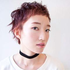 大人かわいい ショート ダブルカラー モード ヘアスタイルや髪型の写真・画像