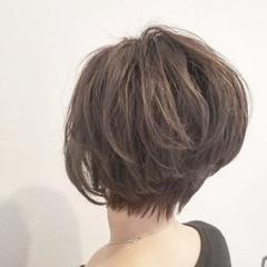 ショート 外国人風 暗髪 コンサバ ヘアスタイルや髪型の写真・画像