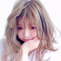 ハイトーン 外国人風 ミディアム 透明感 ヘアスタイルや髪型の写真・画像