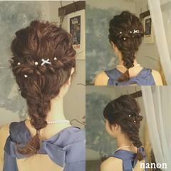 クリスマス ロング フェミニン デート ヘアスタイルや髪型の写真・画像