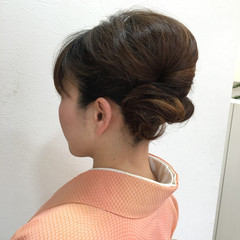 コンサバ 着物 和装 フェミニン ヘアスタイルや髪型の写真・画像