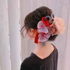 卒業式 ヘアアレンジ ミディアム 結婚式ヘアアレンジ ヘアスタイルや髪型の写真・画像