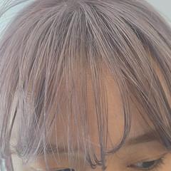 ミディアム ピンクベージュ お洒落 透明感カラー ヘアスタイルや髪型の写真・画像