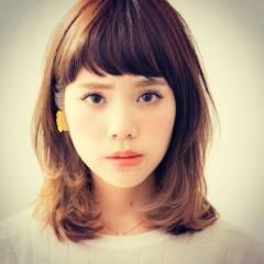 ガーリー グラデーションカラー ミディアム 外国人風 ヘアスタイルや髪型の写真・画像