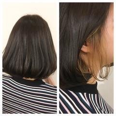 透明感 暗髪 ハイライト インナーカラー ヘアスタイルや髪型の写真・画像