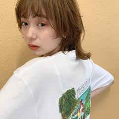 ウルフカット レイヤースタイル ハイトーンカラー ウルフレイヤー ヘアスタイルや髪型の写真・画像