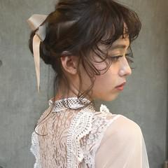 モード 簡単ヘアアレンジ 結婚式 ヘアアレンジ ヘアスタイルや髪型の写真・画像
