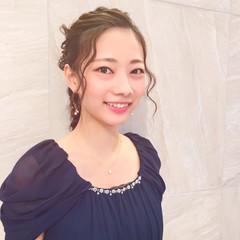 結婚式 大人女子 ヘアアレンジ ショート ヘアスタイルや髪型の写真・画像