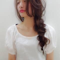 春 フェミニン ロング コンサバ ヘアスタイルや髪型の写真・画像