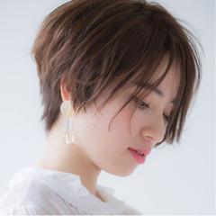 前髪あり 小顔 ジェンダーレス 大人女子 ヘアスタイルや髪型の写真・画像