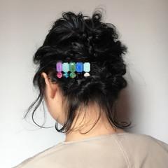 簡単ヘアアレンジ ショート 黒髪 結婚式 ヘアスタイルや髪型の写真・画像