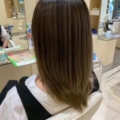 ハイライト セミロング ダブルカラー ブリーチオンカラー ヘアスタイルや髪型の写真・画像