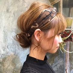 フェミニン ショート ハーフアップ パーマ ヘアスタイルや髪型の写真・画像