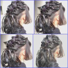 グラデーションカラー ガーリー 外国人風 ミディアム ヘアスタイルや髪型の写真・画像