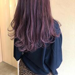 ガーリー ピンク パープル ラベンダーピンク ヘアスタイルや髪型の写真・画像