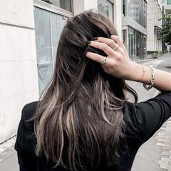 ナチュラル 暗髪 ハイライト 外国人風カラー ヘアスタイルや髪型の写真・画像