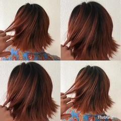 グラデーションカラー ボブ ブリーチ ダブルカラー ヘアスタイルや髪型の写真・画像